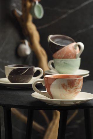 Kütahya Porselen - Kütahya Porselen Stella Double Kahve Takımı Mix Hypnose