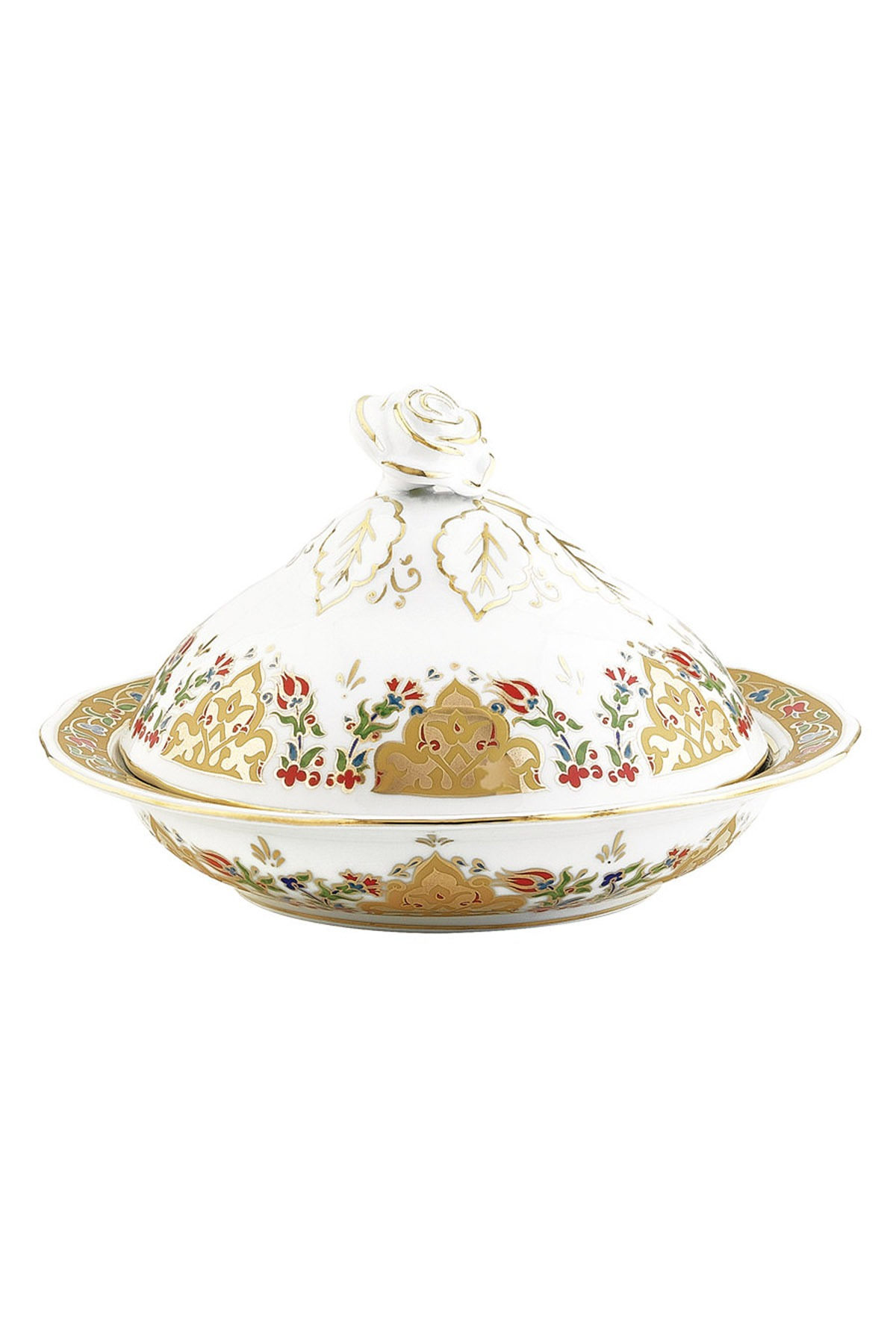 Kütahya Porselen - Kütahya Porselen Sultan Şekerlik 20 Cm Dekor No:412