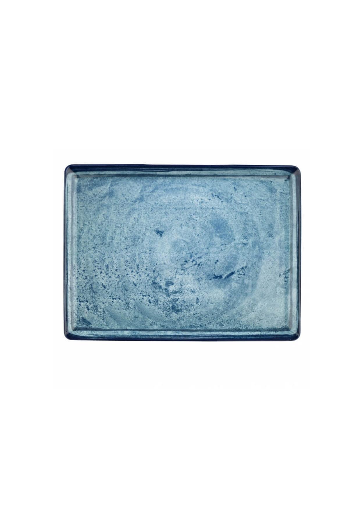 Kütahya Porselen Nanokrem 27x20 cm Düz Tabak 890003
