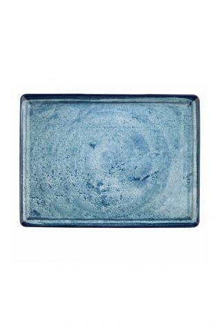 Corendon - Kütahya Porselen Nanokrem 35x26 cm Düz Tabak 890003