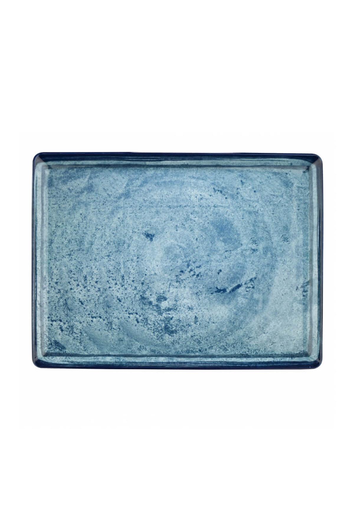 Kütahya Porselen Nanokrem 35x26 cm Düz Tabak 890003