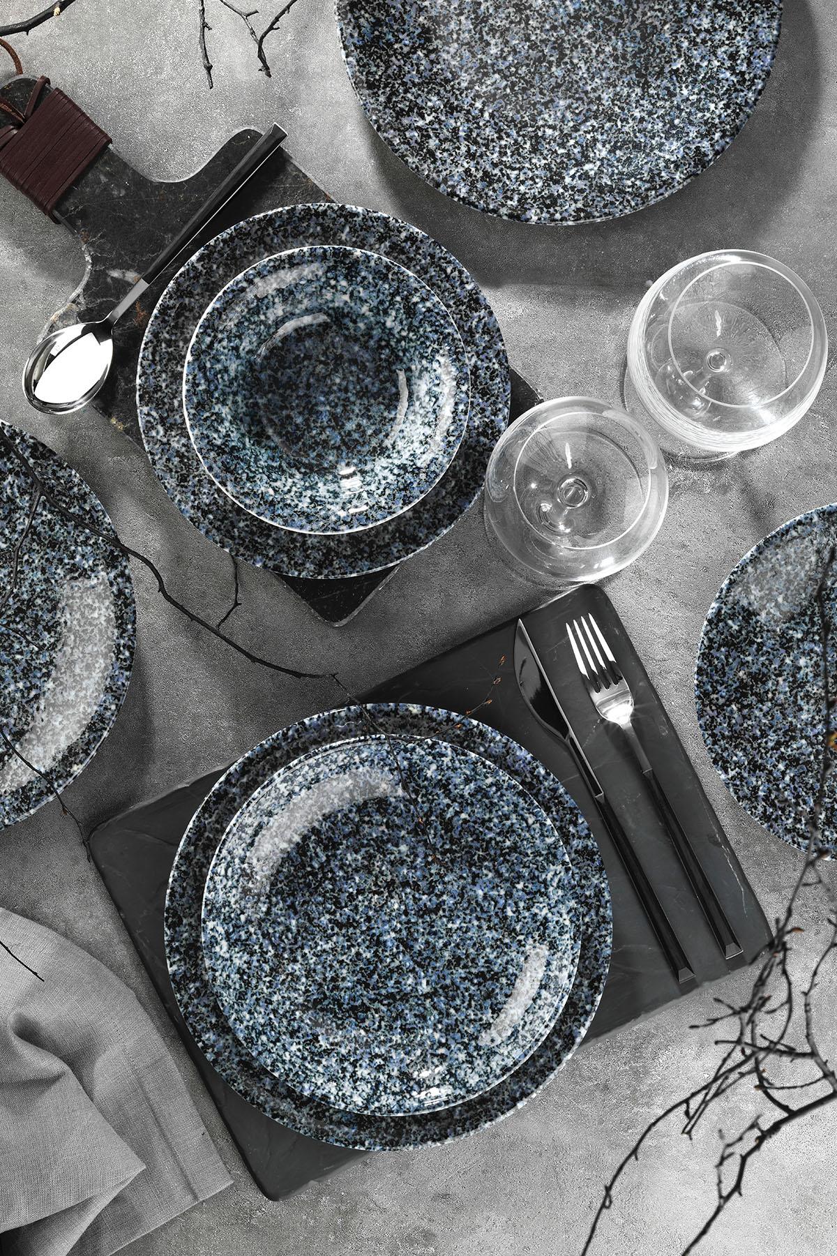 Corendon - Kütahya Porselen Nanokrem 24 Parça Yemek Seti 891020