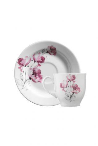 Kütahya Porselen Yasemin 10888 Desen Kahve Fincan Takımı - Thumbnail (3)
