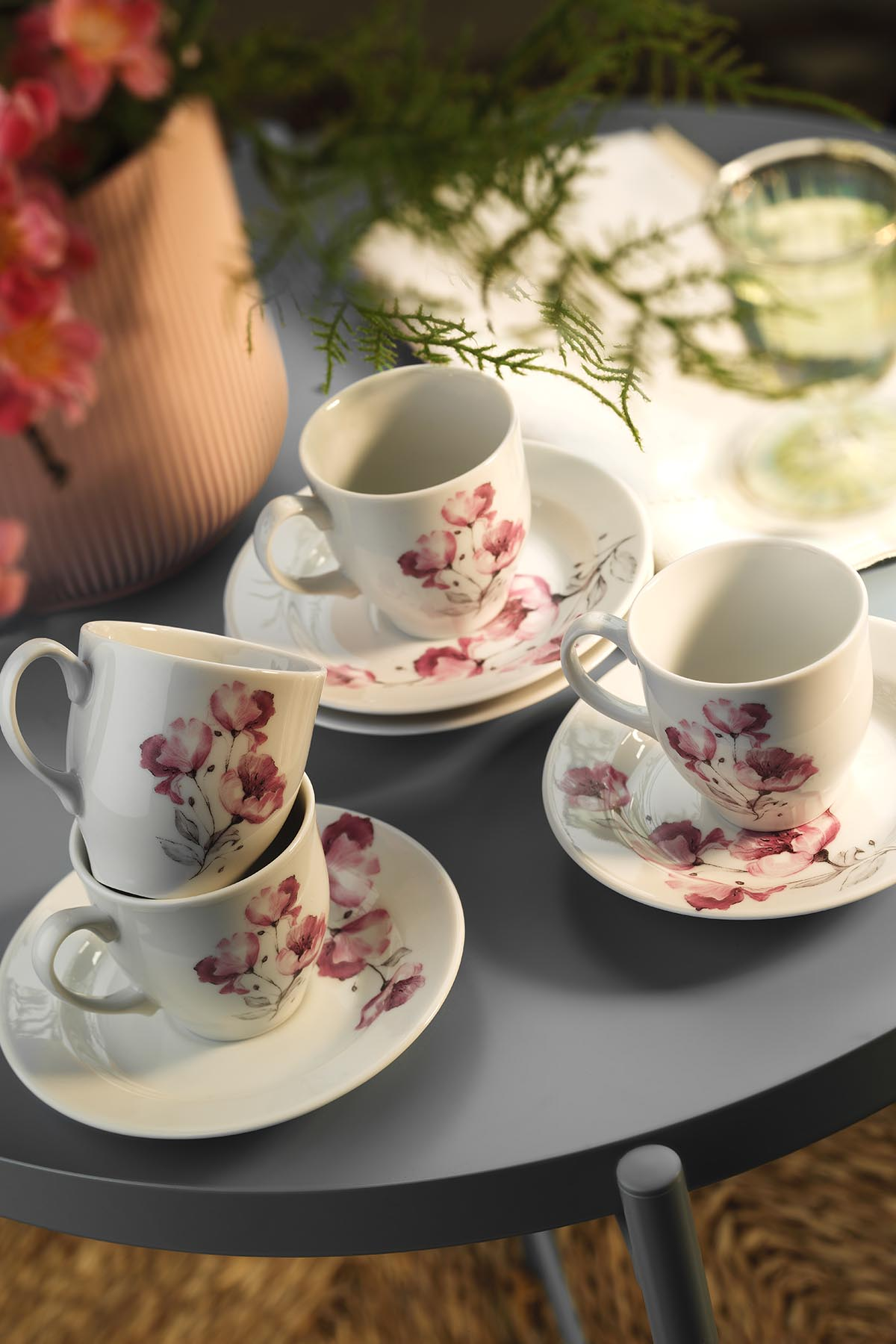 Kütahya Porselen - Kütahya Porselen Yasemin 10888 Desen Kahve Fincan Takımı