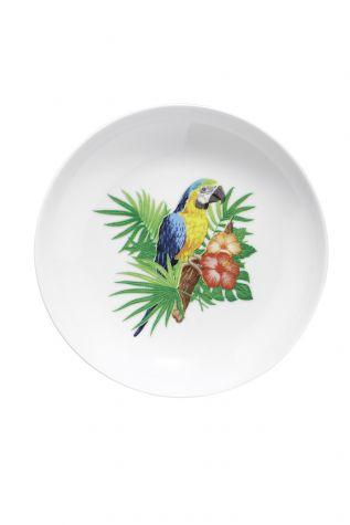 Kütahya Porselen - Kütahya Porselen Doğadakiler 21 cm Çukur Tabak Papağan