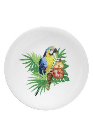 Kütahya Porselen - Kütahya Porselen Doğadakiler 27 cm Servis Tabağı Papağan