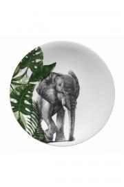 Kütahya Porselen Doğadakiler 27 cm Servis Tabağı Fil - Thumbnail