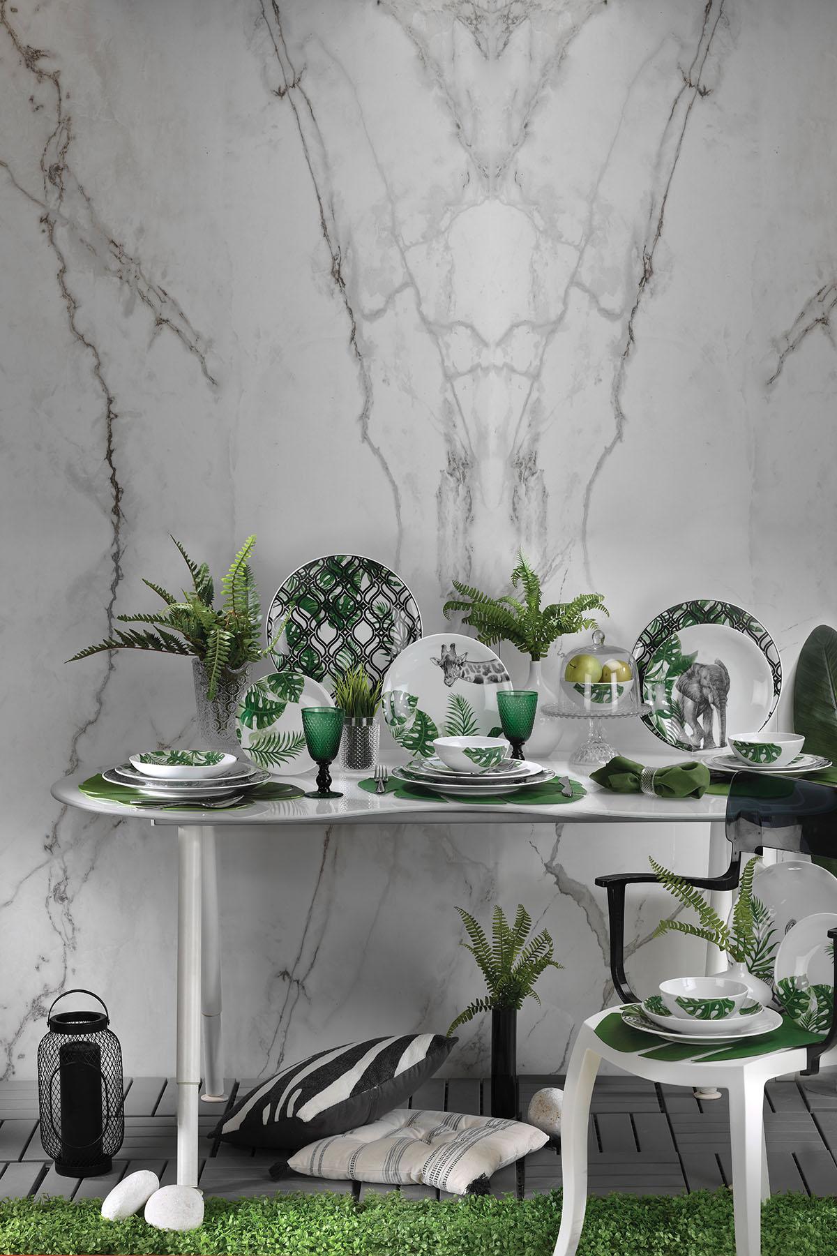 Kütahya Porselen Doğadakiler 27 cm Servis Tabağı Fil