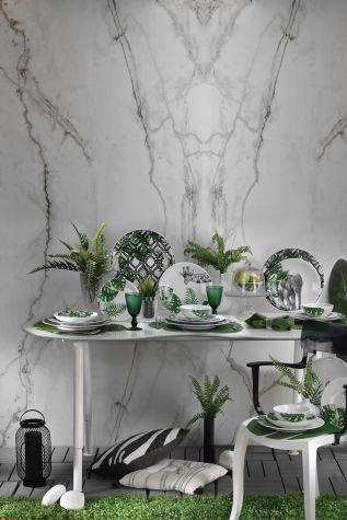 Kütahya Porselen Doğadakiler 27 cm Servis Tabağı Fil - Thumbnail (1)