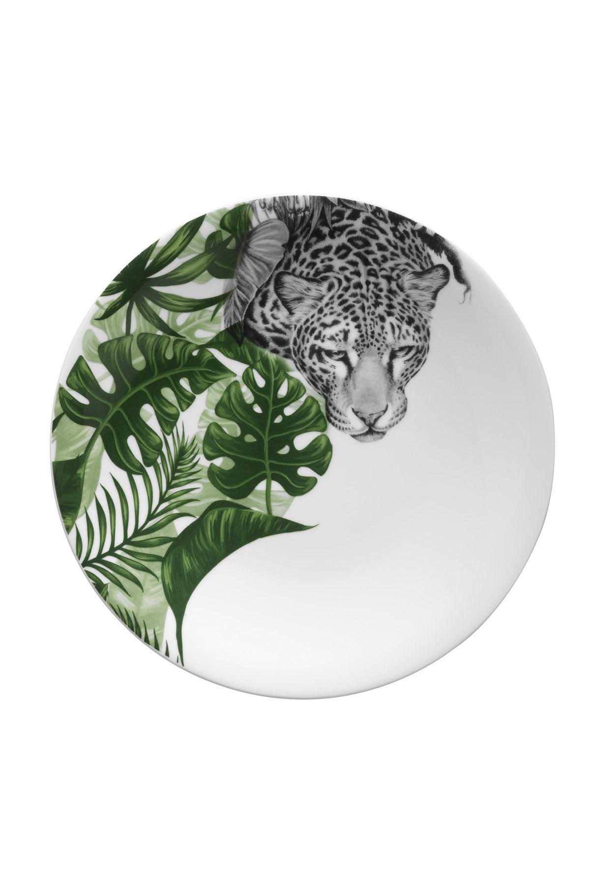 Kütahya Porselen - Kütahya Porselen Doğadakiler 27 cm Servis Tabağı Leopar