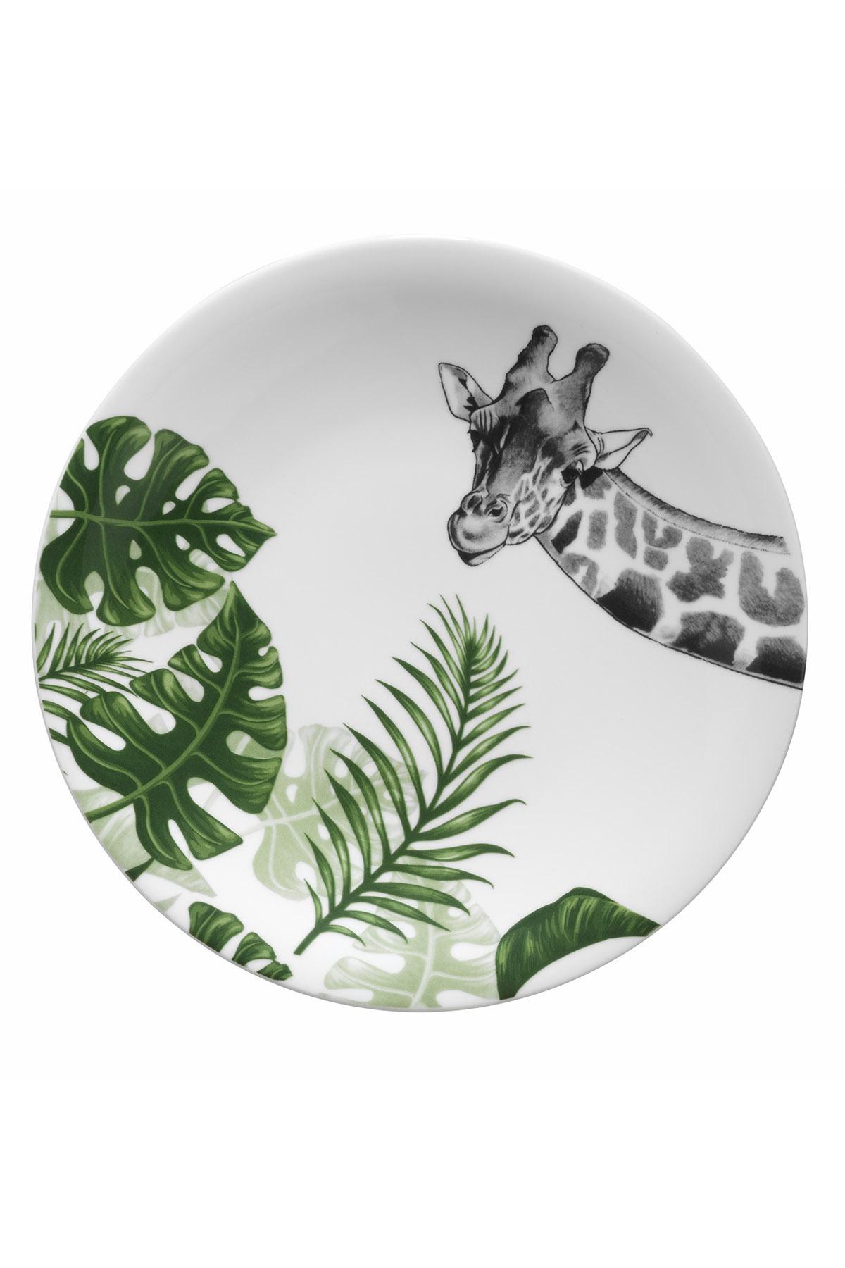 Kütahya Porselen Doğadakiler 27 cm Servis Tabağı Zürafa