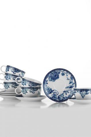 Kütahya Porselen Bleu Blanc Çay Fincan Takımı 939016 - Thumbnail (1)