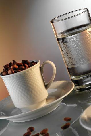 Kütahya Porselen Zümrüt Kahve Fincan Takımı - Thumbnail (1)